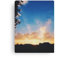 Winter Sunset in London Canvas Print