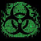 Binary Biohazard Symbol (Green) by GrimDork