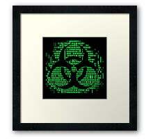 Binary Biohazard Symbol (Green) Framed Print