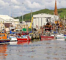 Girvan Harbour by Tom Clark