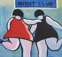 Big girls night out (from my original acrylic painting ) by sword