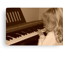 Young Musician Canvas Print