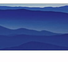 The Blue Ridge Mountains - 2 by Mundy Hackett