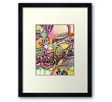 Giraffes in love Framed Print