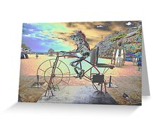 Frog Cycling, Sculptures By The Sea, Australia 2011 Greeting Card