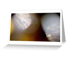 Spectral visions in the blink of an eye Greeting Card
