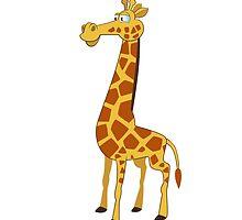 Happy cartoon giraffe by berlinrob
