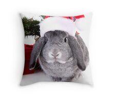 Christmas Rabbit Throw Pillow