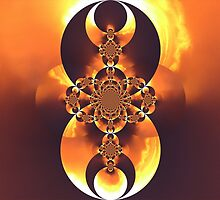 Golden Fire Scarab I by sherrie-larch