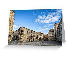 Cathedral Square in Avila Greeting Card