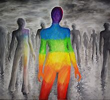 Different or a rainbow in a black and white world by Corina Chirila