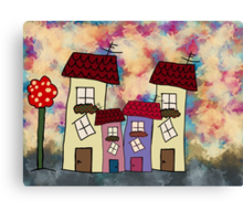 Lovely houses Canvas Print