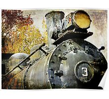 """Three Spot"" Locomotive Poster"