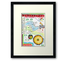Bicycle races  Framed Print
