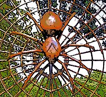 Comic Abstract Spider by steelwidow