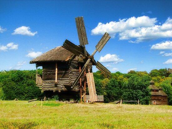 Windmills of Pirogovo  by LudaNayvelt