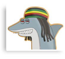 Reggae Shark Metal Print