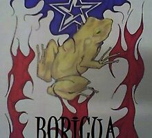 FLAMING PUERTO RICAN FLAG by tinyme77
