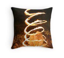 Fire Spiral Throw Pillow