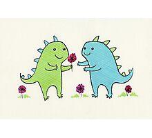 Dino Love Photographic Print