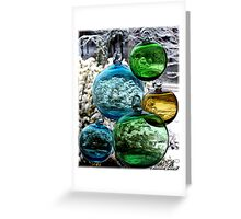 Glass Globes: View of the World Greeting Card