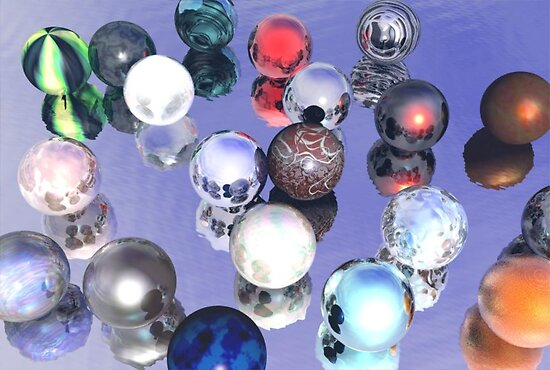 Marbles Anyone? by Rhonda Blais