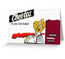 Cheetos Homicide  Greeting Card