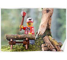 Lego Lumberjack Poster