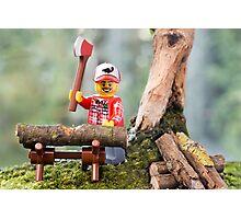 Lego Lumberjack Photographic Print