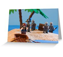 Lego Captain Jack Sparrow and the wrong zombies Greeting Card