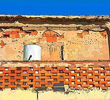 Grunge wall by Ron Zmiri