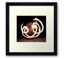 Fire Reflection Framed Print