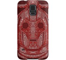 Snowflake Cyberman - Berry Red (DW) Samsung Galaxy Case/Skin