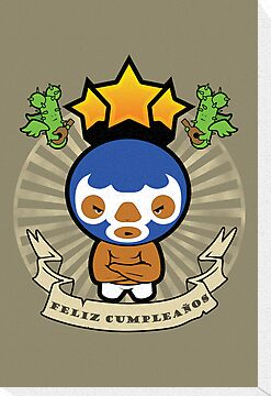 Happy Birthday -  Mexican Wrestler by BigFatRobot