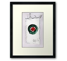 Christmas card- Red and Green 2014 Framed Print
