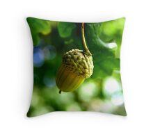 From little acorns grow mighty oaks Throw Pillow