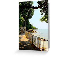 The Sea walk - Hong Kong. Greeting Card