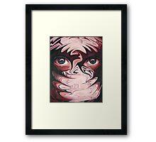 Drowning in eyes Framed Print