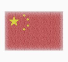 CHINESE FLAG FADED, CHINA FLAG, FADED by TOM HILL - Designer