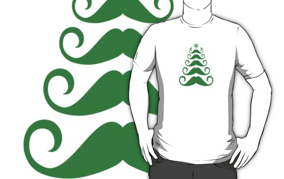 Mustache Christmas tree design by beakraus