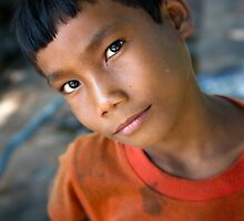 Khmer boy by Anthony Begovic