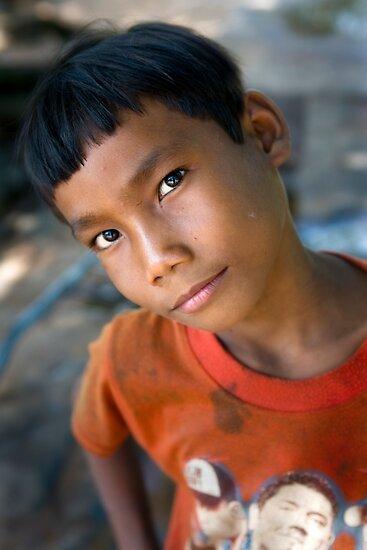 Khmer boy by Anthony Begovic