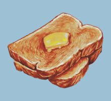Buttered Toast Pattern Kids Clothes
