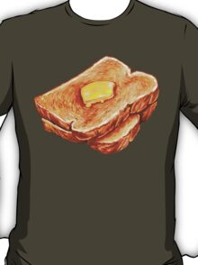 Buttered Toast Pattern T-Shirt
