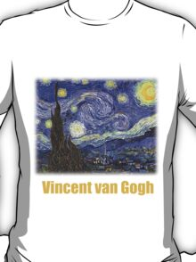 Vincent van Gogh, Starry Night T-Shirt