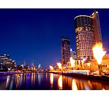 Crown Casino Fireshow, Melbourne Photographic Print