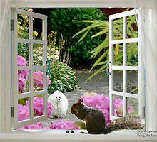Snowdrop the Maltese & Harrry the Squirrel by Morag Bates