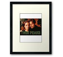 Twin Peaks / X-Files Framed Print