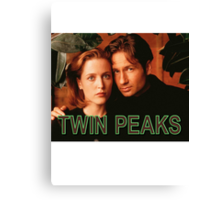 Twin Peaks / X-Files Canvas Print