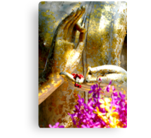 Buddha Hands And Flowers Canvas Print